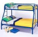 Blue Twin Over Full Metal Bunk Bed - Children