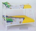 White Twin Over Full Metal Bunk Bed - Children