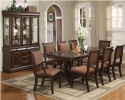 "Double Pedestal Dining Table with18"" Leaf w/Chairs"