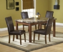 Marble Finish 5 pc Dinette Set