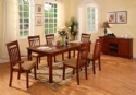 Cheyenne 5pc Dark Oak Table Set