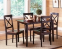 Jaguar 5 PC Dinette - Merlot / Black