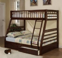 Jason Espresso Finish Twin/Full Bunk Bed w/Drawer