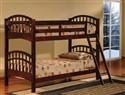 Twin/Twin Stackable Wood Bunkbed ~ Walnut