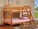 Twin/Twin Stackable Wood Bunkbed ~ Oak