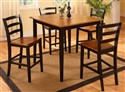 5908 Oak and Black 5 Pc Pub Set