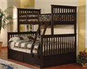 Twin/Full Stackable Bunkbed ~ Espresso Finish