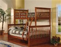 Twin/Full Stackable Bunkbed ~ Oak Finish