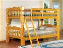 "45127 Twin/Twin Bunkbed with 4 1/2"" Post in Oak"