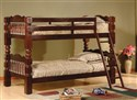 "45127 Twin/Twin Bunkbed with 4 1/2"" Post in Cherry"