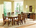 Montreal 7-Piece Transitional Brown Dining Table &
