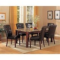 5pc. Dining Table and Parson Chairs