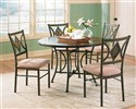 Tacoma 5-Piece Casual Round Pedestal Table & Side