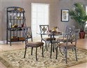 Tacoma 5-Piece Glass/Slate Top Dinette Set