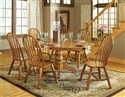 Skoal 7-Piece Cottage Oval Pedestal Table & Wheelb