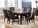 Danville Real Mable Top Seven Piece Dining Set