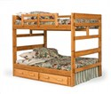 BED2654 Full/Full Stackable Pine Bunk Bed