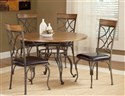 Sierra Metal / Wood Dinette Table 5-pc Set