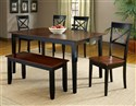 Jaguar 6 PC Dinette - Merlot / Black