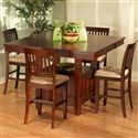 New Classic Brendan 5 Piece Storage Pub Table Set