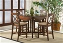 Dining Drop Leaf Pub Table with 4 X-Back Pub Chair
