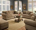 Traditional Stationary Sofa and Loveseat